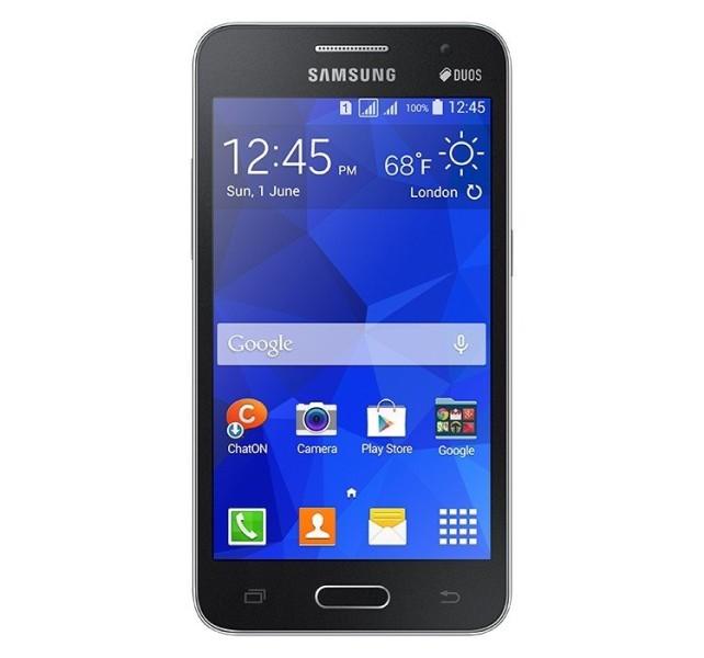 Samsung Galaxy Core 2 Duos - czarny, front