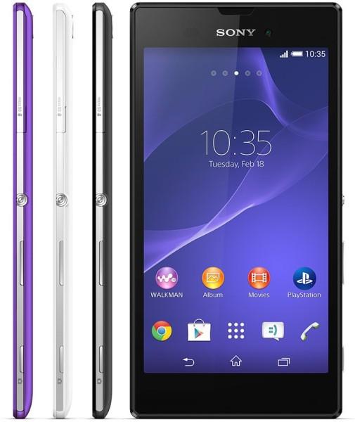 Sony Xperia T3 - front i boki