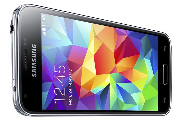 Samsung Galaxy S5 mini - czarny, ukos