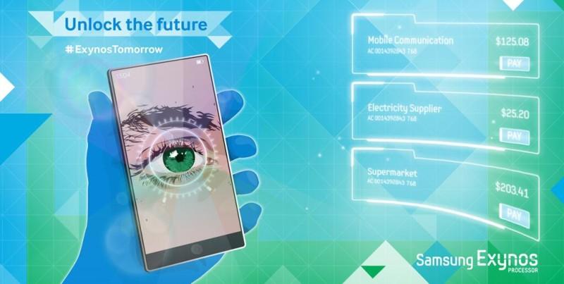 Samsung - skaner siatkówki ludzkiego oka