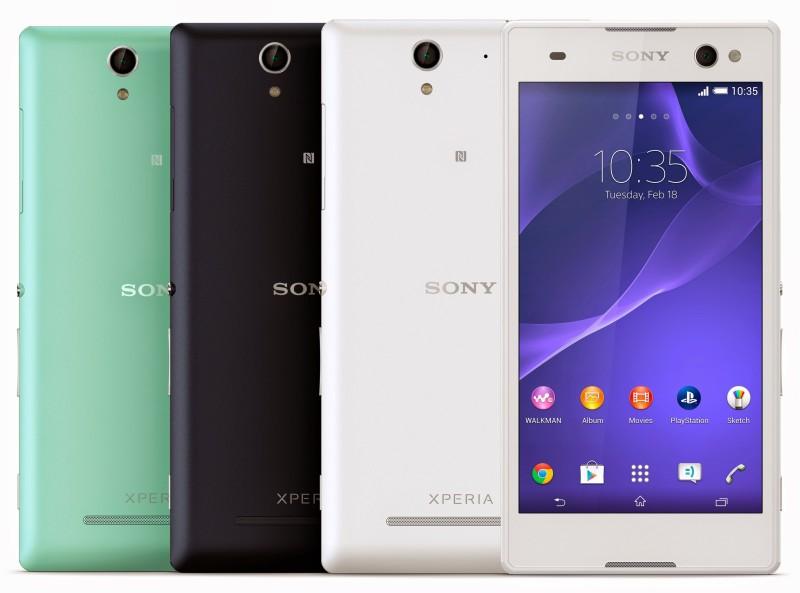 Sony Xperia C3 - kolory