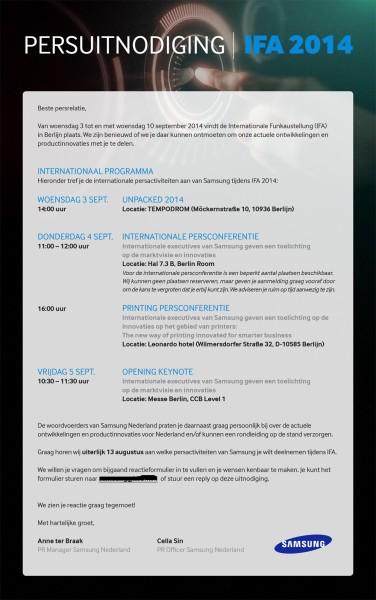Program wydarzeń Samsunga na tegorocznych targach IFA