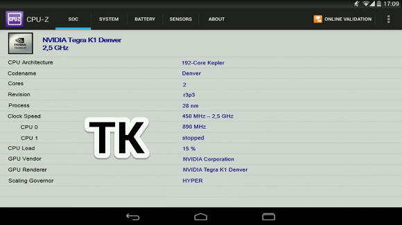 Nexus 9 - CPU-Z