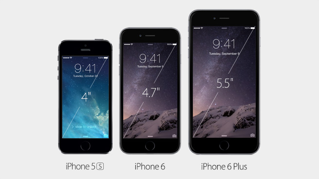 Apple iPhone 5, iPhone 6 oraz iPhone 6 Plus