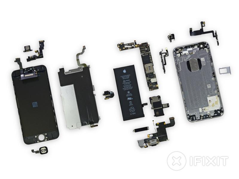 Apple iPhone 6 - rozebrany na części