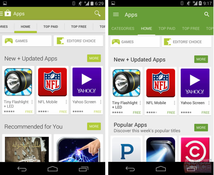 Google Play Store 5.0 - Material Design