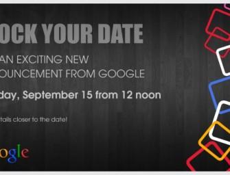 Google zaprasza na 15 września, co wtedy zobaczymy?