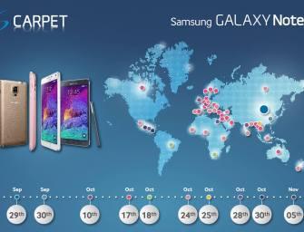 Samsung w obawie przed nowymi smartfonami Apple, przyśpiesza sklepowy debiut Galaxy Note 4