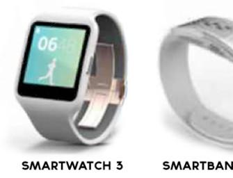Znamy wygląd Sony Smartwatch 3 i SmartBand Talk