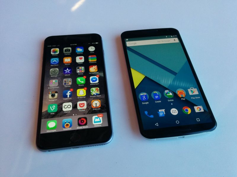 Apple iPhone 6 Plus i Motorola Nexus 6