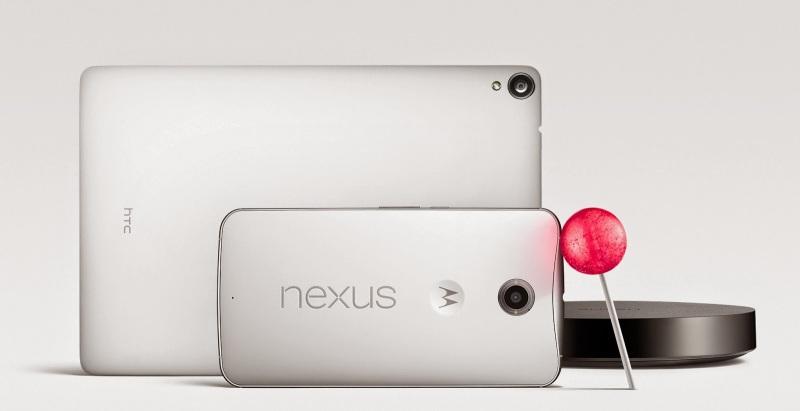 Motorola Nexus 6 i HTC Nexus 9 - Lollipop