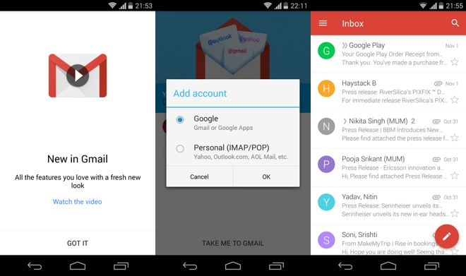 Gmail 5.0 - Material Design