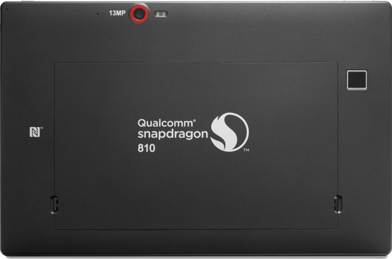 Qualcomm Snapdragon 810 - tablet, tył