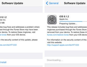 Apple wypuszcza aktualizację do iOS 8.1.2, co nowego?