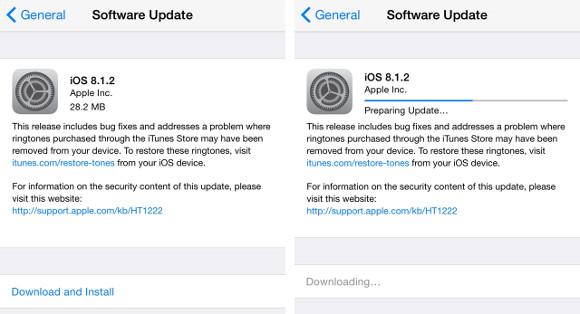 Apple iOS 8.1.2
