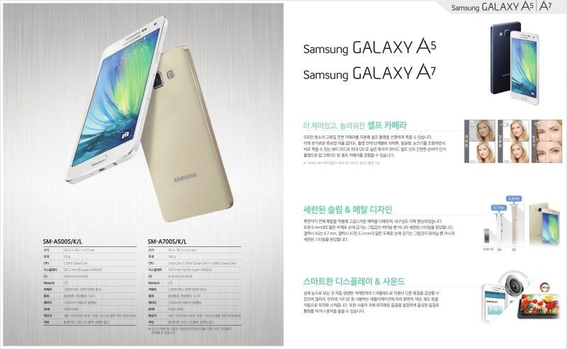 Samsung Galaxy A7 - ulotka